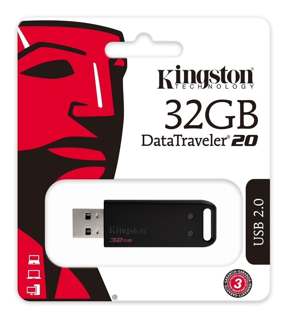 PENDRIVE 32GB USB KINGSTON DT20 2.0